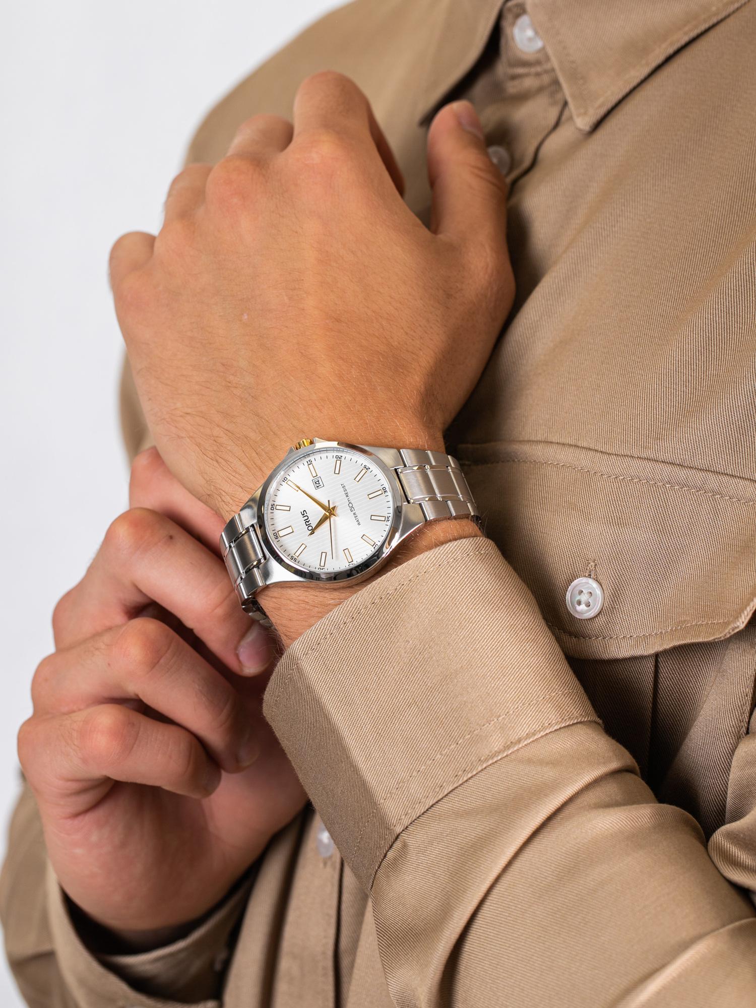 Lorus RH989KX9 męski zegarek Klasyczne bransoleta