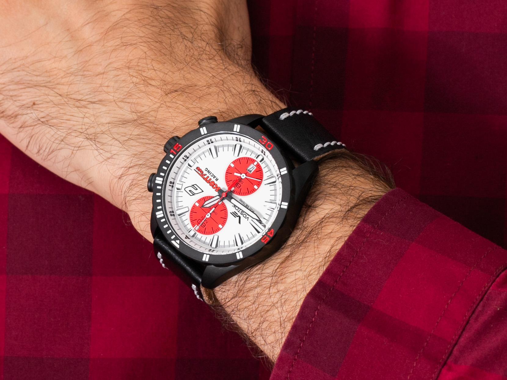 Vostok Europe 6S11-320C374 Almaz Chrono Scott Free Racing Edition zegarek klasyczny Almaz