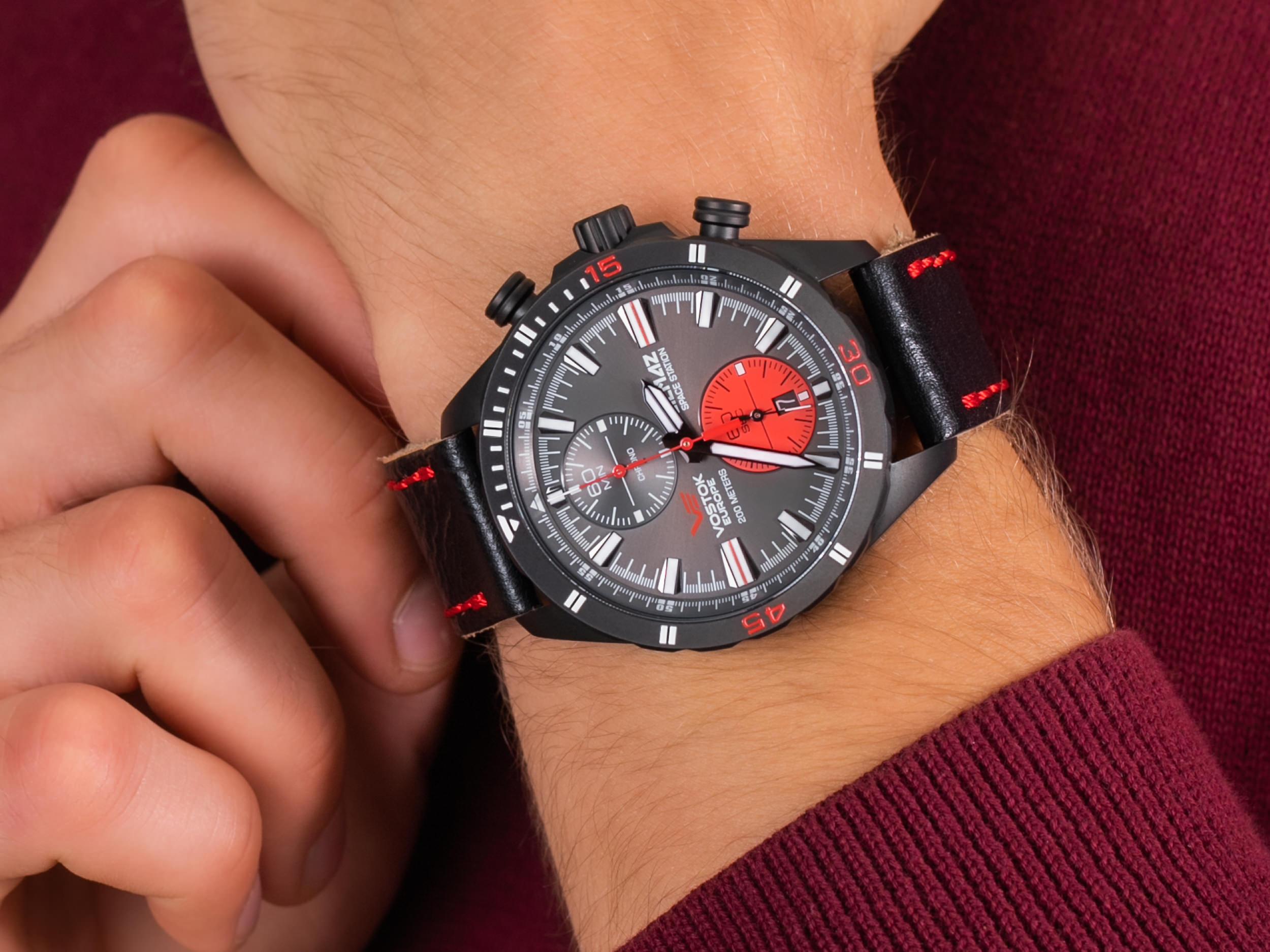 Vostok Europe 6S11-320C260 Almaz Chrono zegarek luksusowy Almaz