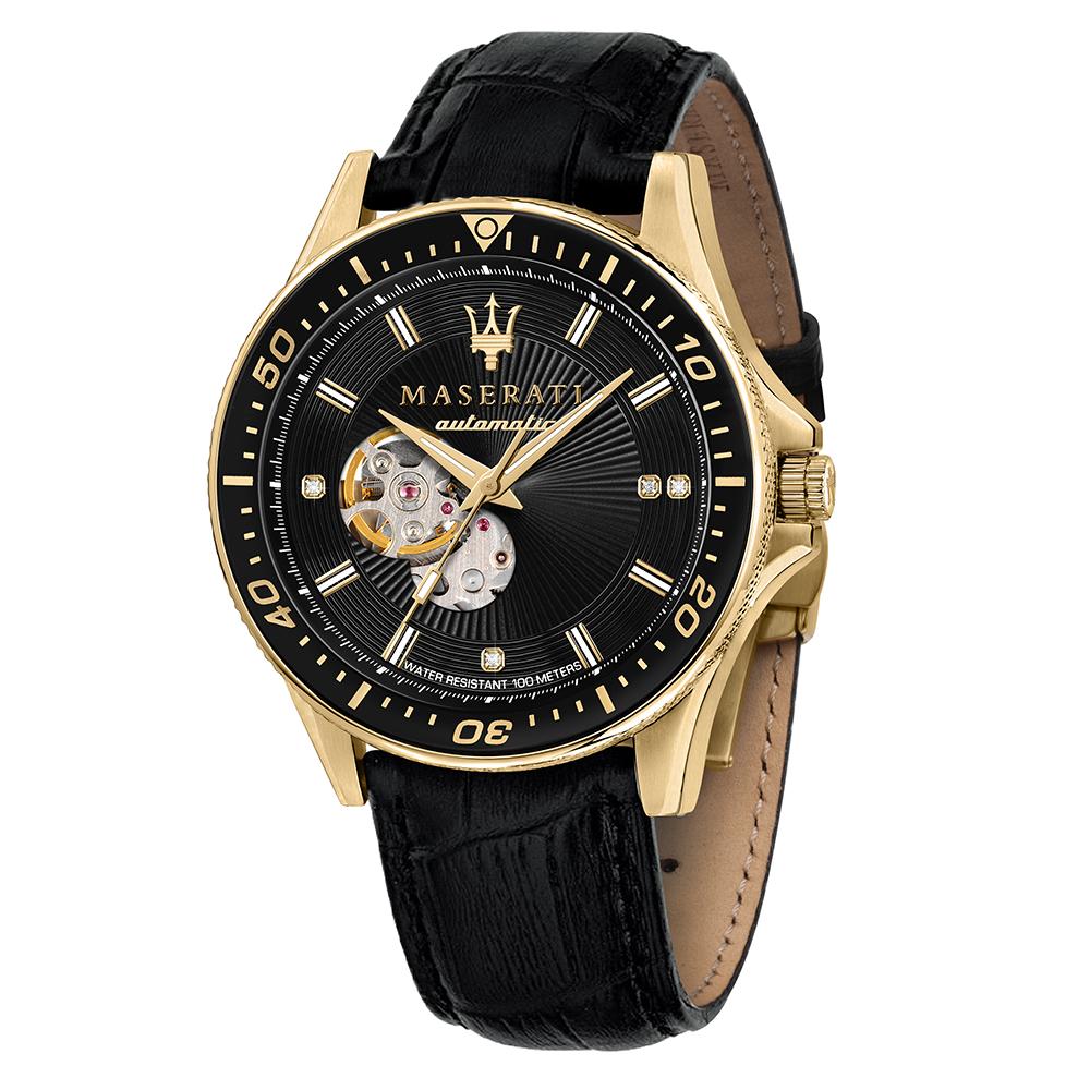 zegarek Maserati R8823140003 automatyczny męski Sfida SFIDA DIAMONDS EDITION