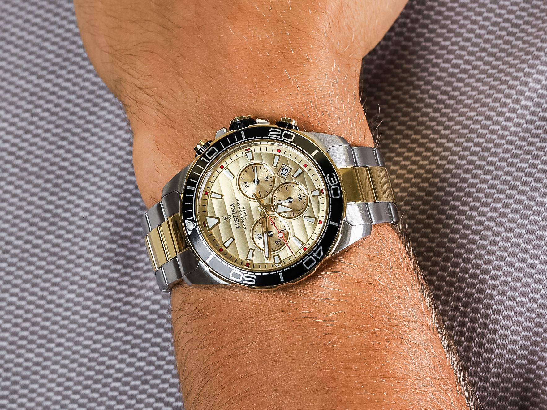 Festina F20363-1 Prestige Chronograph zegarek elegancki Chronograf