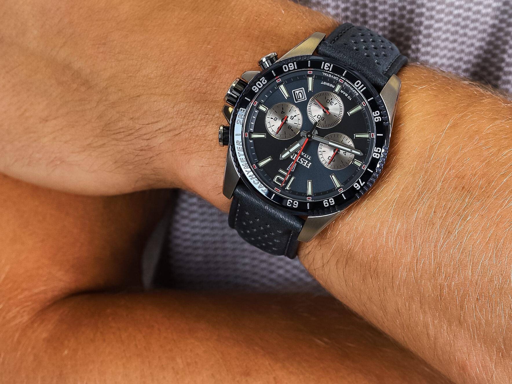 Festina F20521-2 Titanium Sport Chrono Sapphire zegarek sportowy Titanium