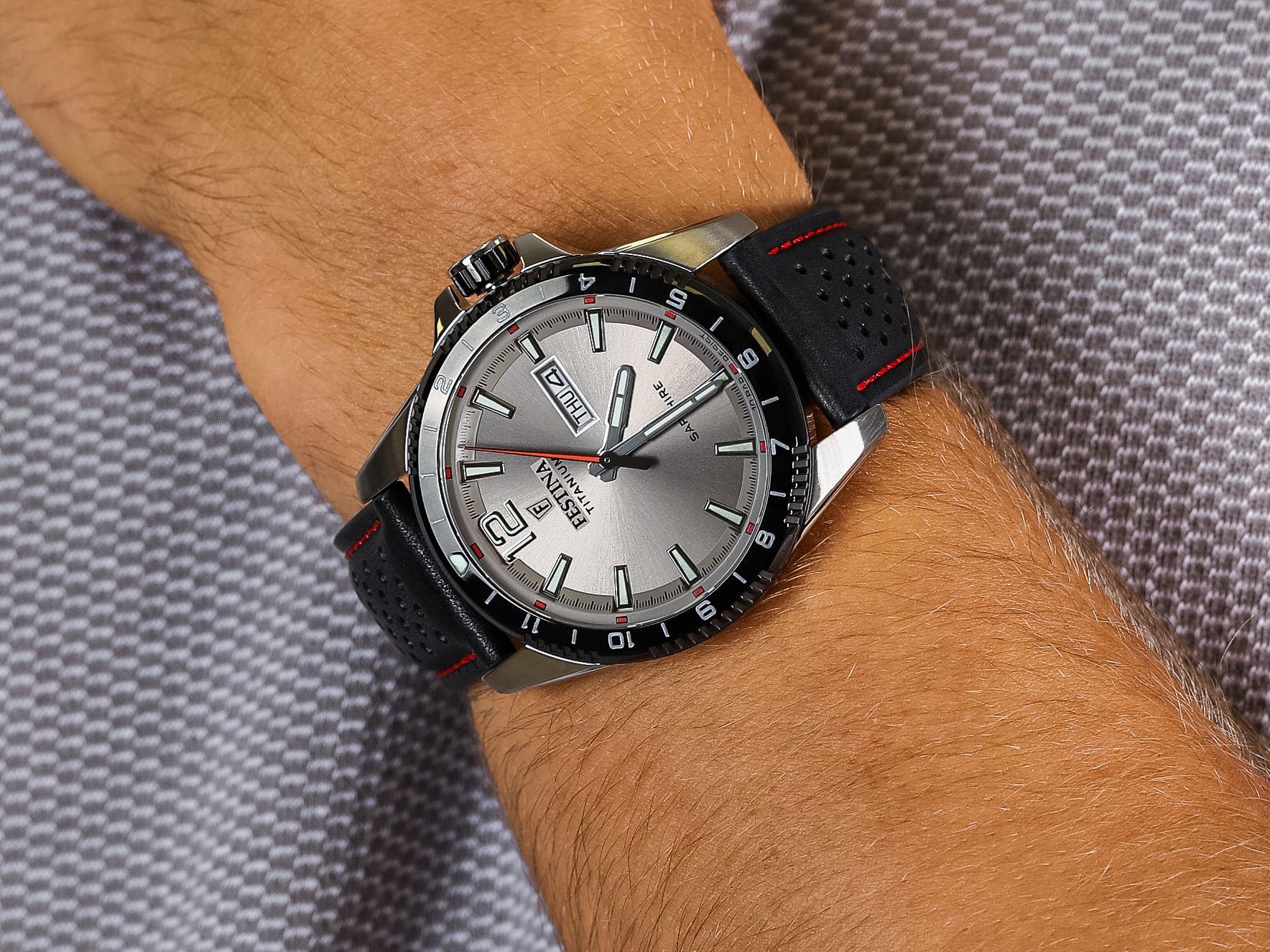 Festina F20530-3 Titanium Sport Sapphire zegarek klasyczny Titanium