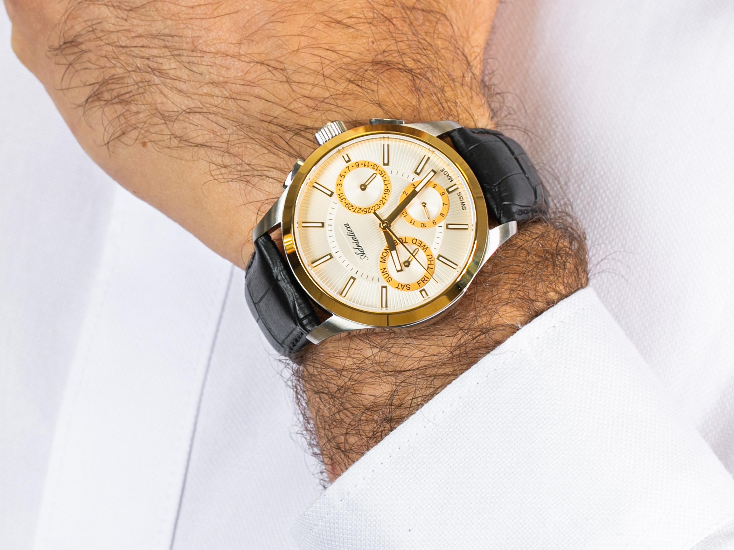 Adriatica A8255.2213QF zegarek klasyczny Pasek
