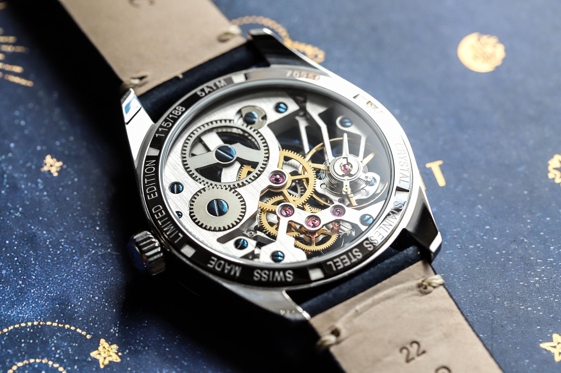 zegarek Atlantic 70950.41.59S mechaniczny męski Seaflight Skeleton Mechanical Limited Edition