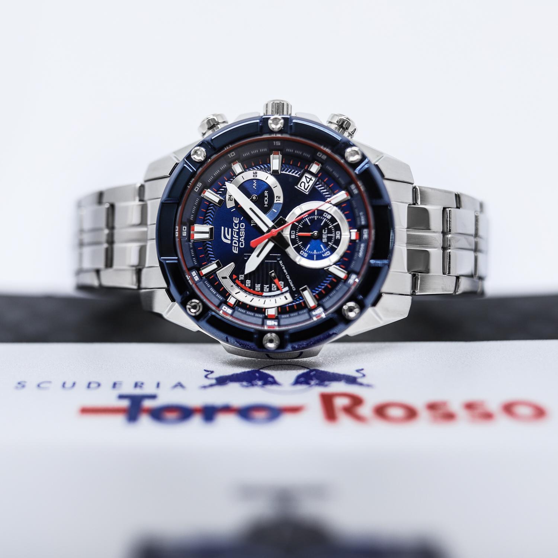 zegarek Edifice EFR-559TR-2AER kwarcowy męski EDIFICE Premium SCUDERIA TORO ROSSO BULKY BEZEL