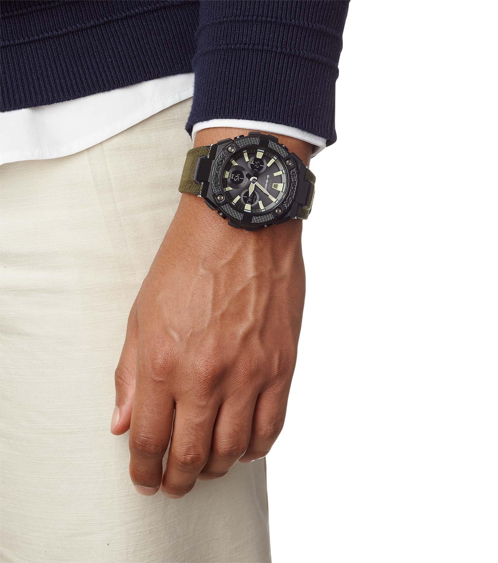 G-Shock GST-W130BC-1A3ER zegarek czarny sportowy G-SHOCK G-STEEL pasek