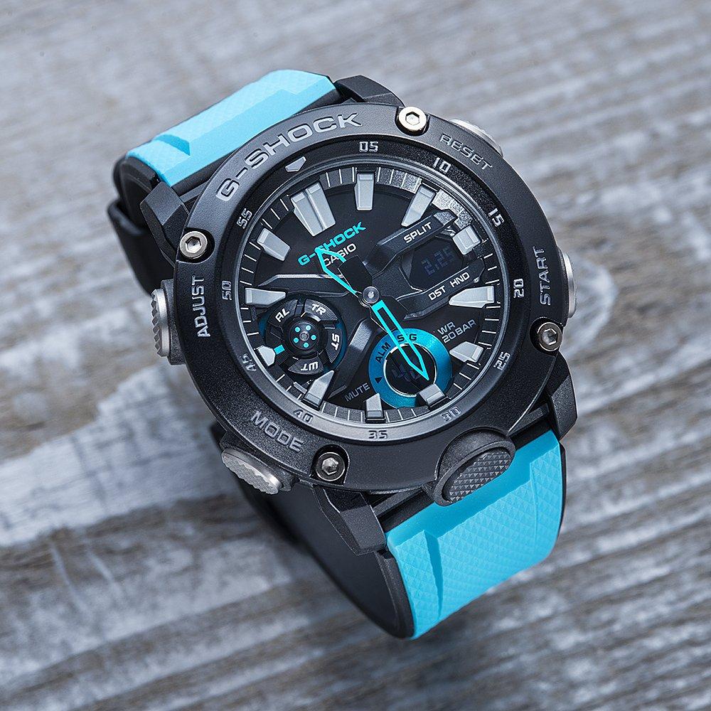 G-Shock GA-2000-1A2ER zegarek czarny sportowy G-Shock pasek