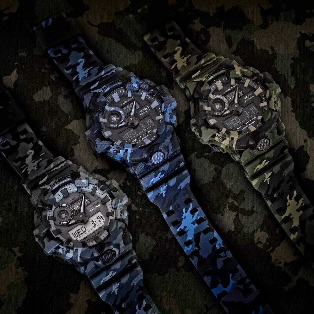 G-Shock GA-700CM-2AER G-Shock zegarek męski sportowy mineralne