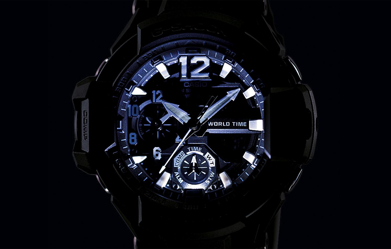 G-Shock GA-1100-1A3ER zegarek czarny sportowy G-SHOCK Master of G pasek