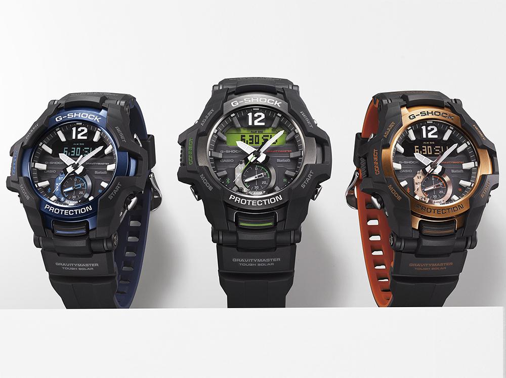G-Shock GR-B100-1A4ER zegarek czarny sportowy G-SHOCK Master of G pasek