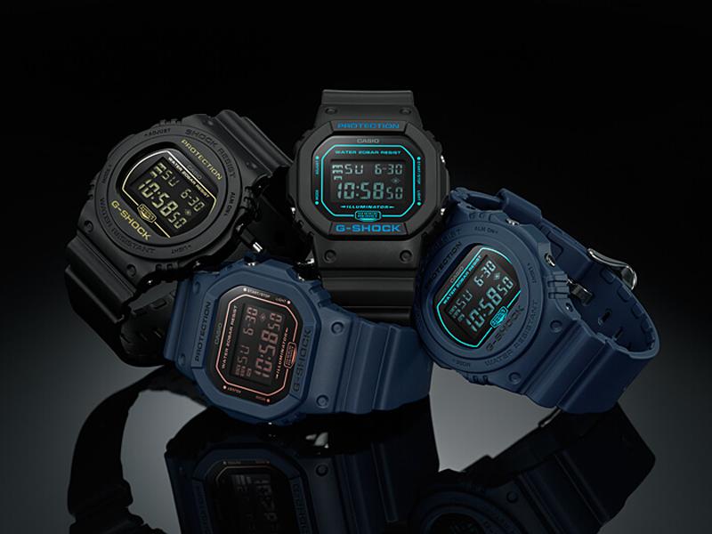 G-Shock DW-5600BBM-1ER zegarek czarny sportowy G-SHOCK Original pasek