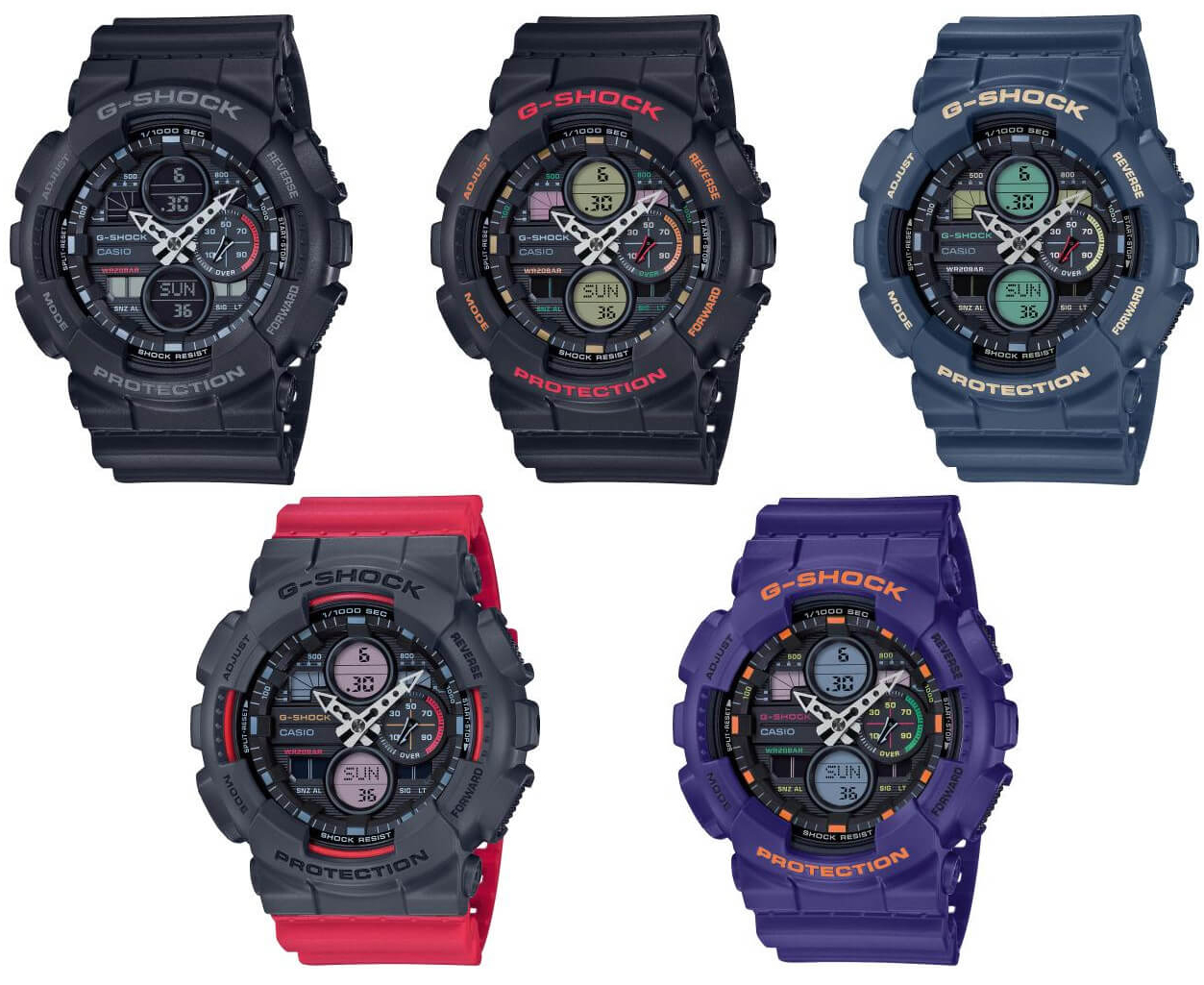G-Shock GA-140BMC-1AER zegarek czarny sportowy G-SHOCK Original pasek