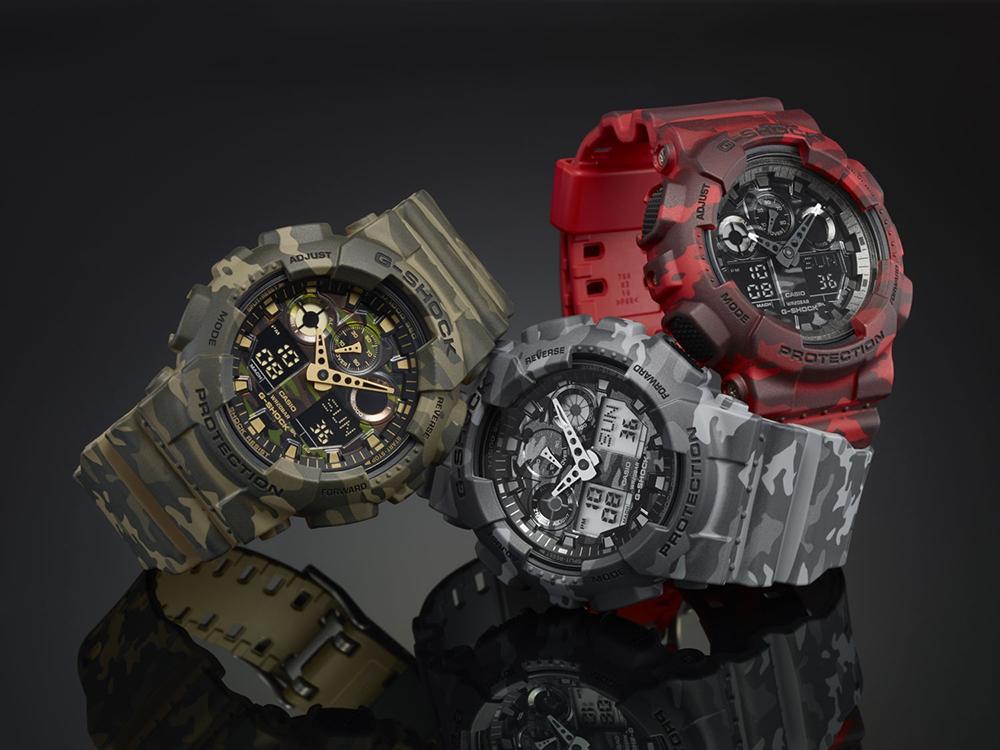 G-Shock GA-100CM-8AER zegarek szary sportowy G-SHOCK Style pasek