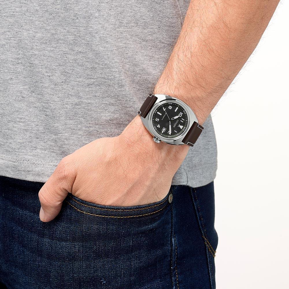 Citizen NJ0100-11E zegarek srebrny klasyczny Automat pasek