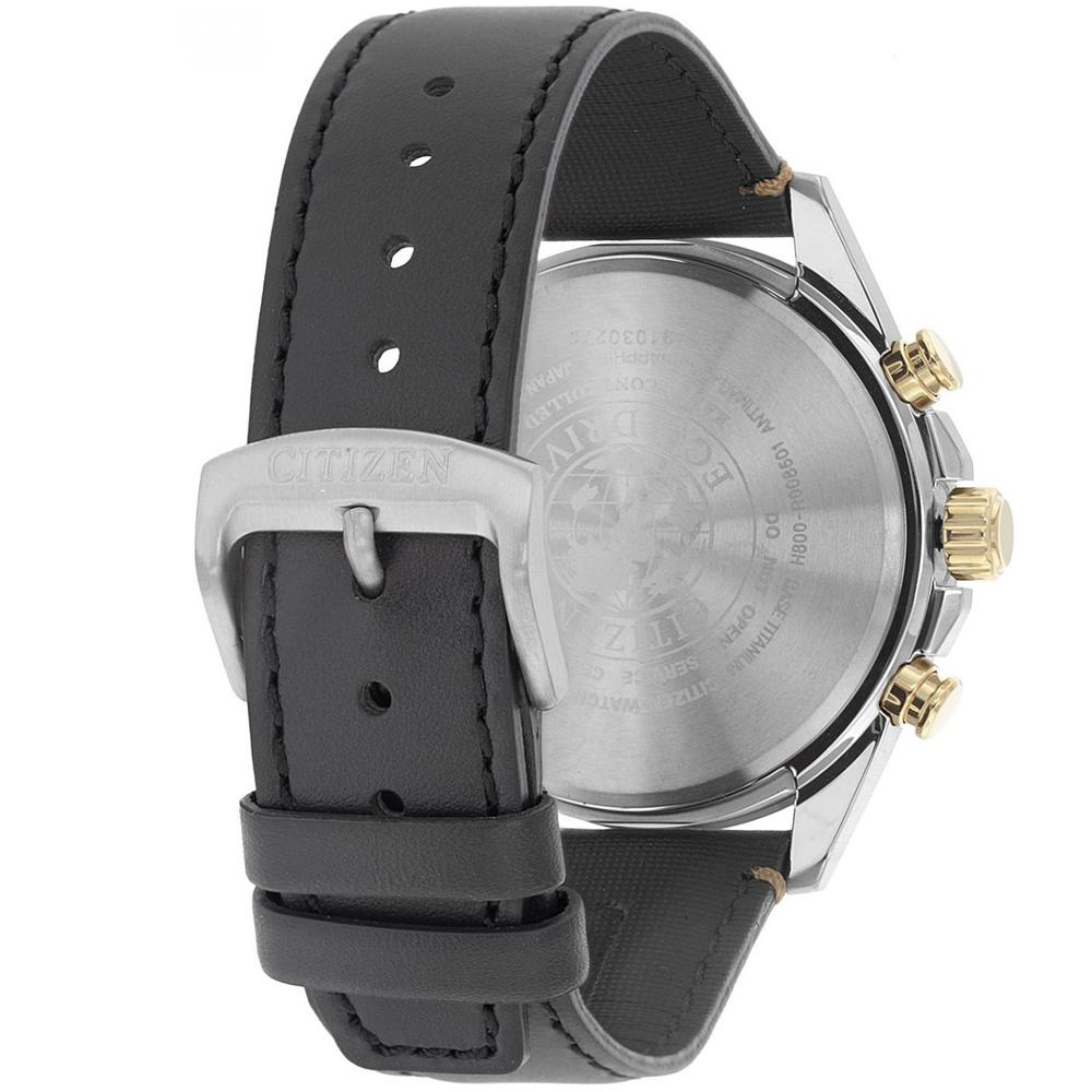 Citizen AT8158-14H zegarek srebrny luksusowy Radio Controlled pasek