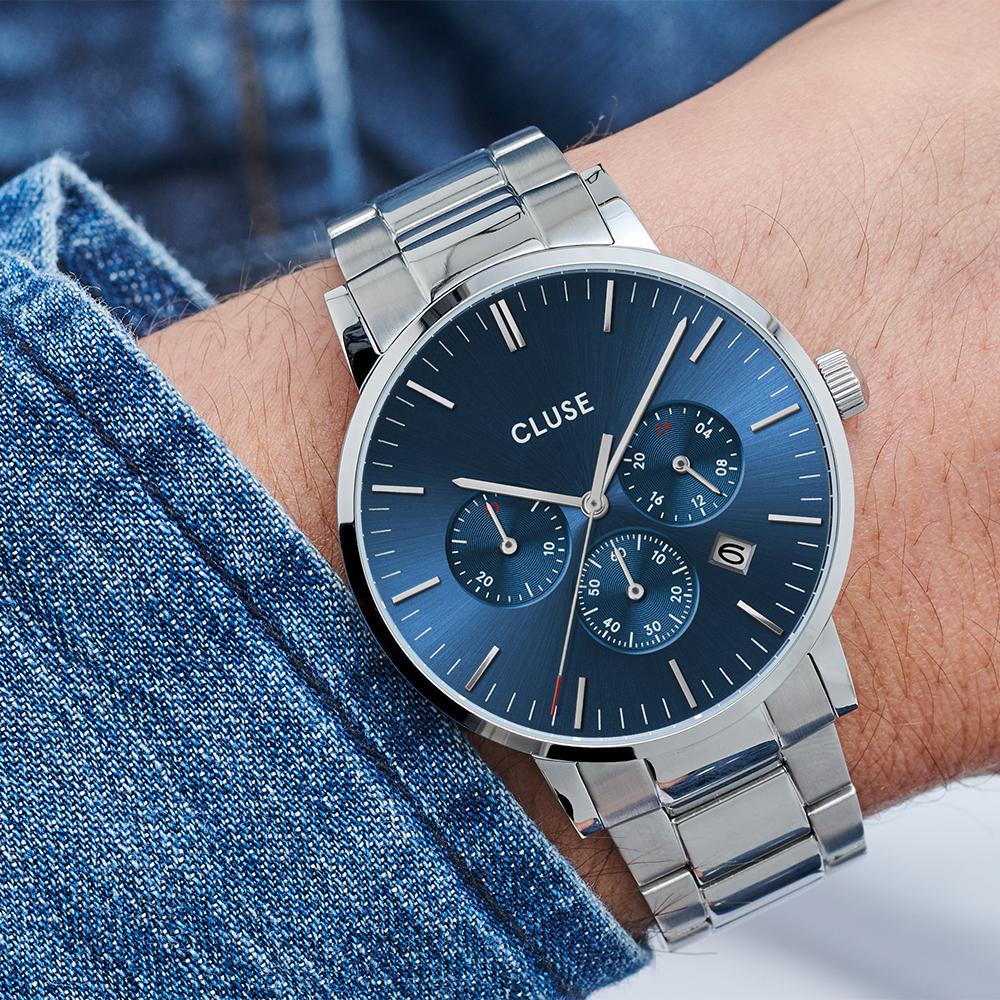 zegarek Cluse CW0101502011 srebrny Aravis