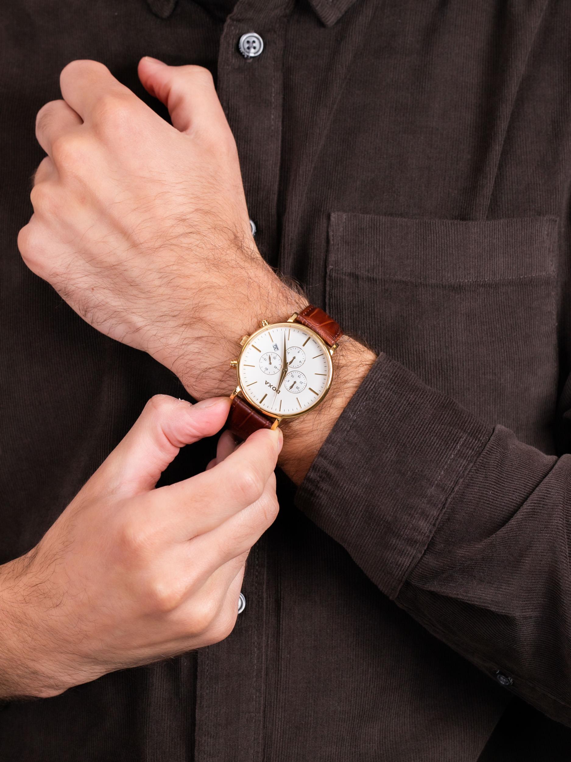 zegarek Doxa 172.30.011.02 męski z chronograf D-Light