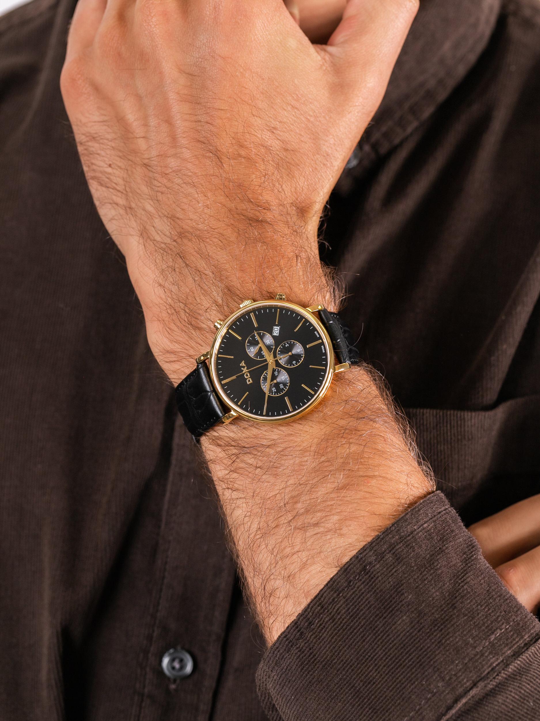 zegarek Doxa 172.30.101.01 męski z chronograf D-Light
