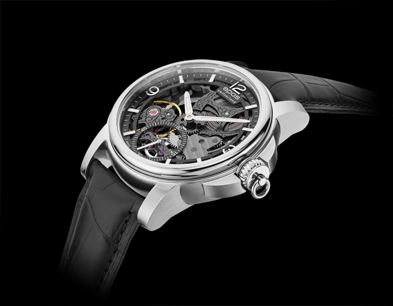 Epos 3429.199.20.55.25 zegarek srebrny klasyczny Oeuvre DArt pasek