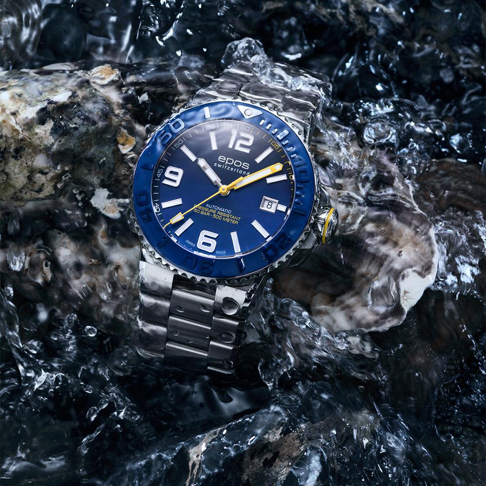 Epos 3441.131.96.56.30 zegarek srebrny klasyczny Sportive bransoleta
