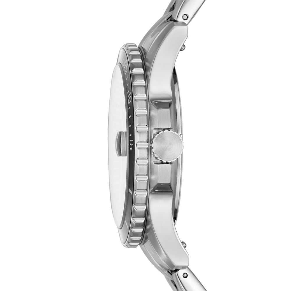 Fossil FS5668 zegarek srebrny klasyczny FB-01 bransoleta
