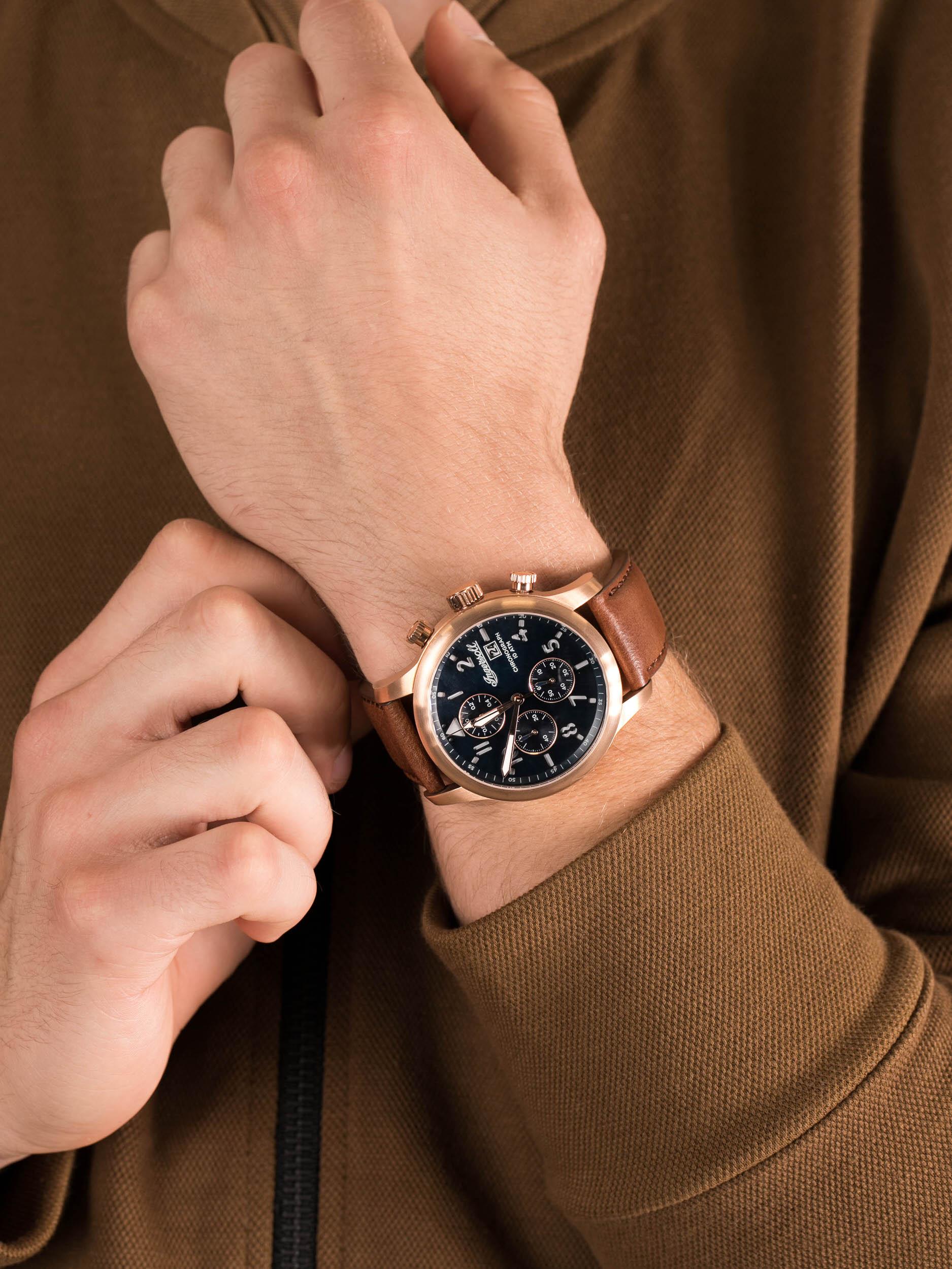 zegarek Ingersoll I01502 THE HATTON męski z chronograf The Hatton