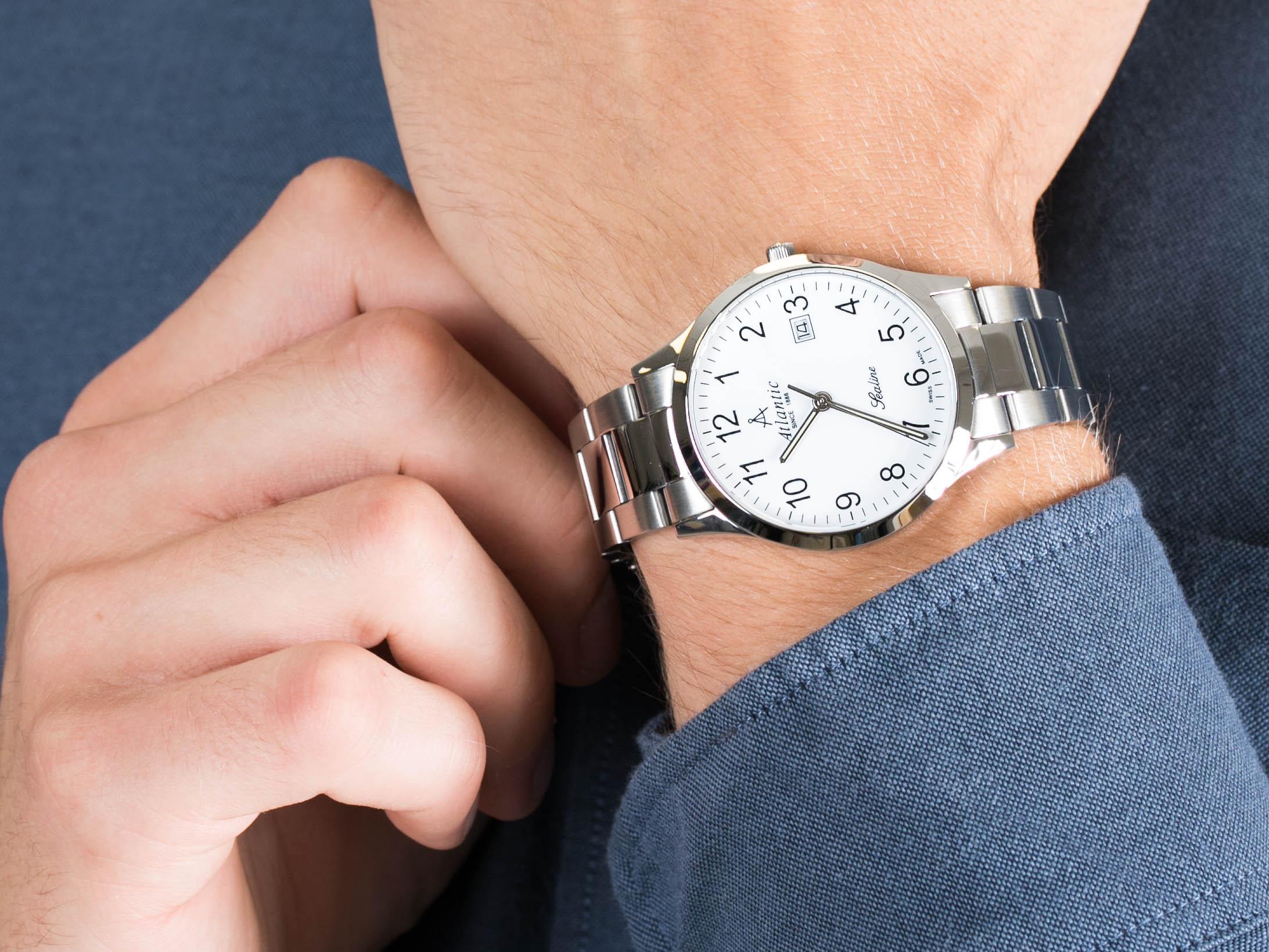zegarek Atlantic 62346.41.13 srebrny Sealine