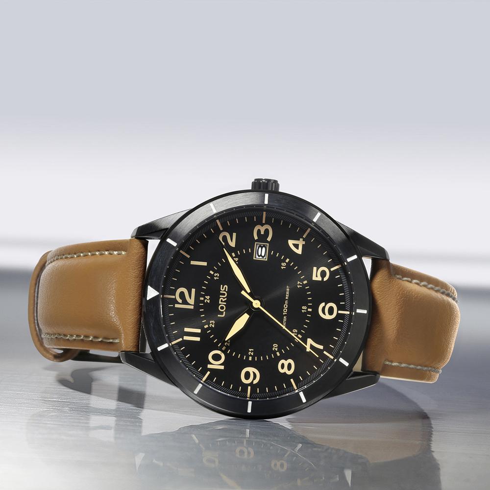 Lorus RH939LX9 zegarek czarny klasyczny Klasyczne pasek