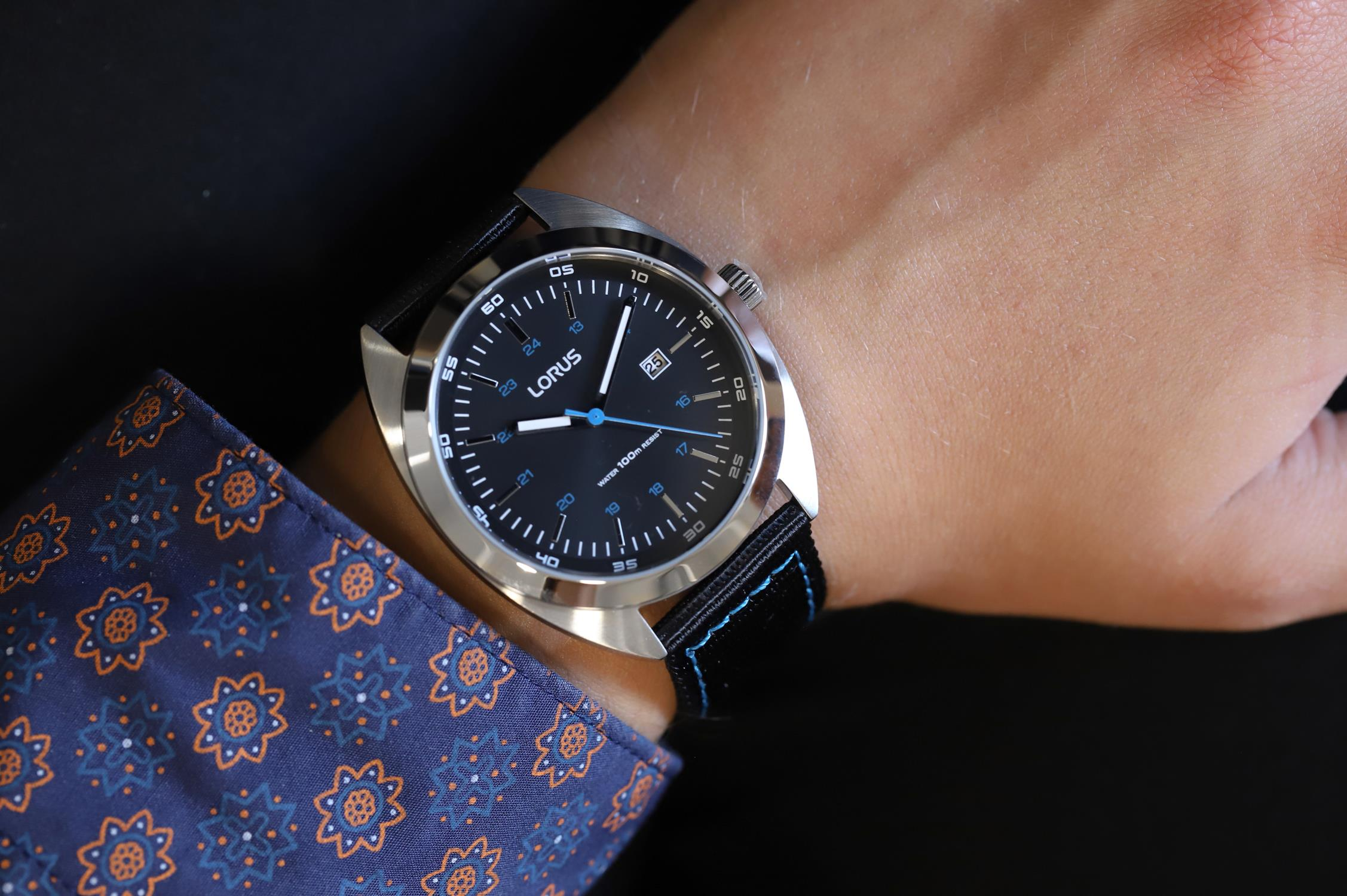 Lorus RH953KX9 męski zegarek Klasyczne pasek