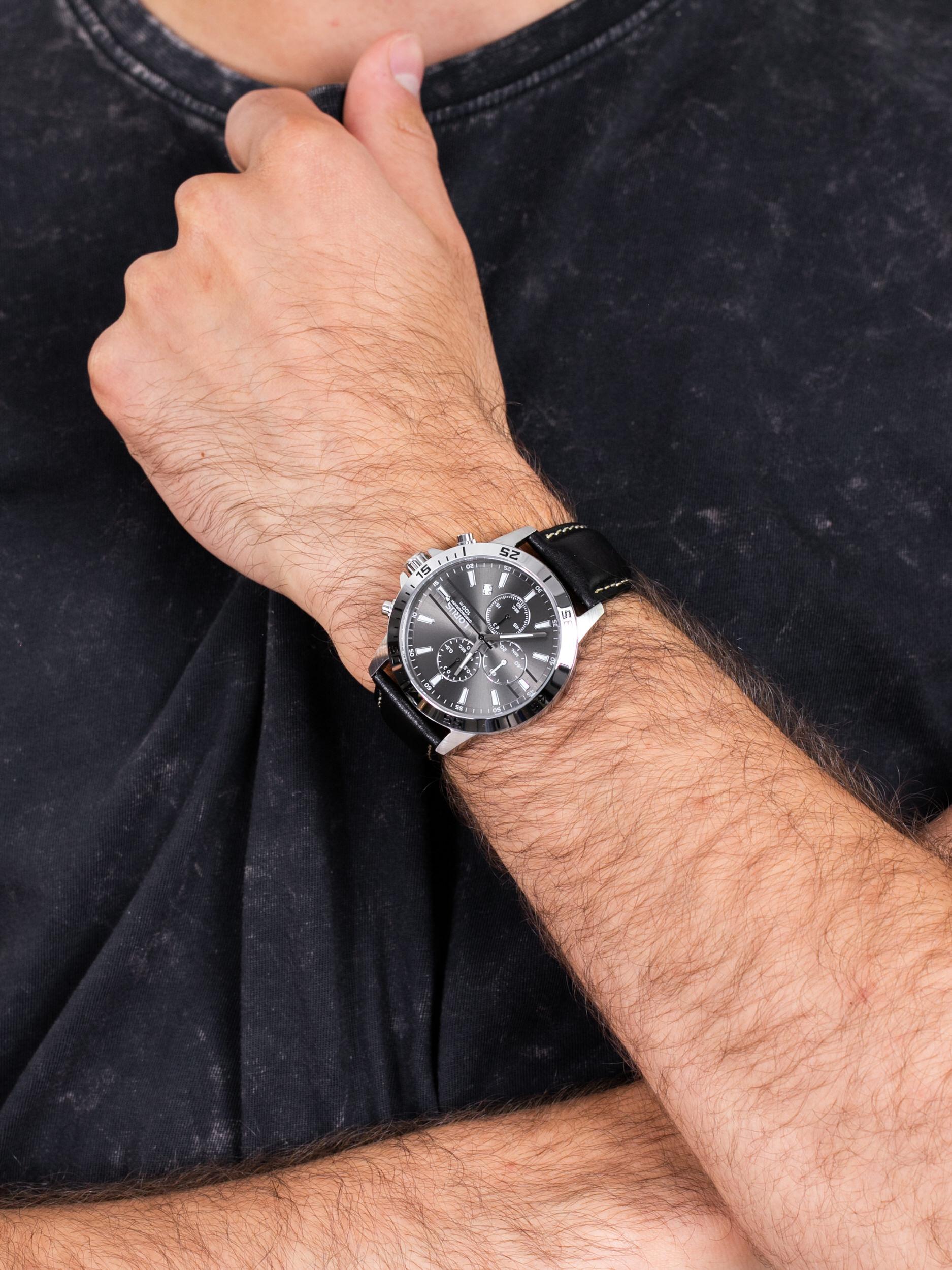 zegarek Lorus RM315FX9 męski z chronograf Klasyczne