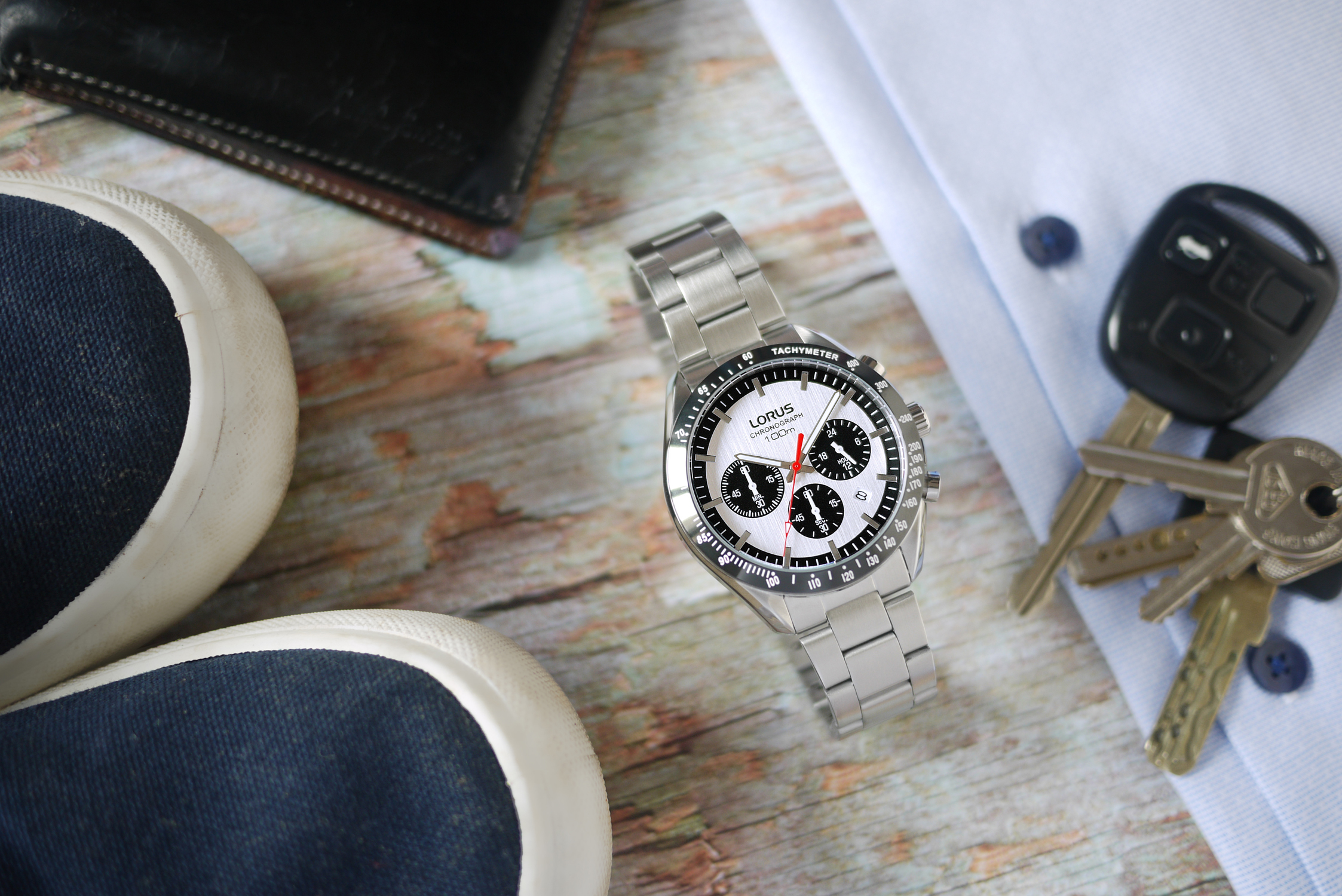 Lorus RT333HX9 zegarek srebrny sportowy Sportowe bransoleta