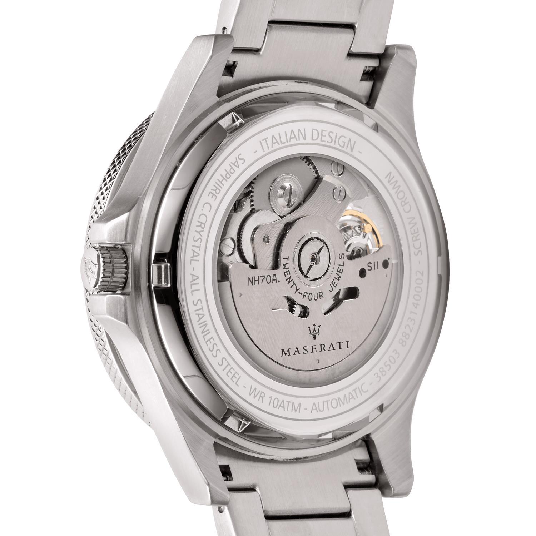 Maserati R8823140002 zegarek srebrny klasyczny Sfida bransoleta