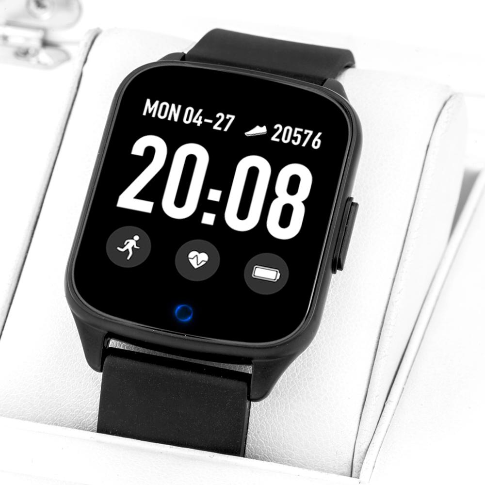 Rubicon RNCE42BIBX01AX zegarek czarny sportowy Smartwatch pasek