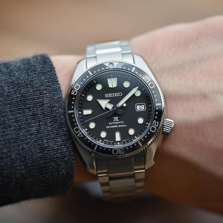 Seiko SPB077J1 zegarek srebrny klasyczny Prospex bransoleta
