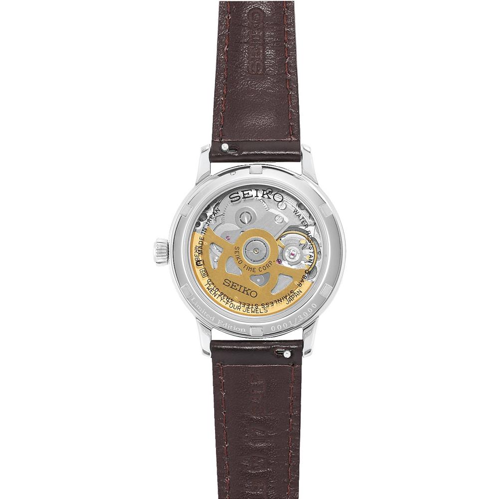 Seiko SSA781J1 zegarek srebrny klasyczny Presage pasek
