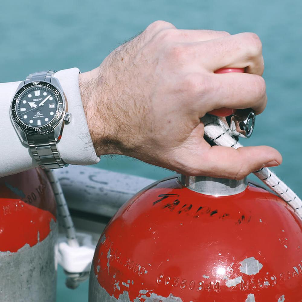 zegarek Seiko SPB077J1 srebrny Prospex