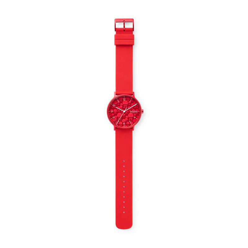 Skagen SKW6632 zegarek czerwony klasyczny Aaren pasek