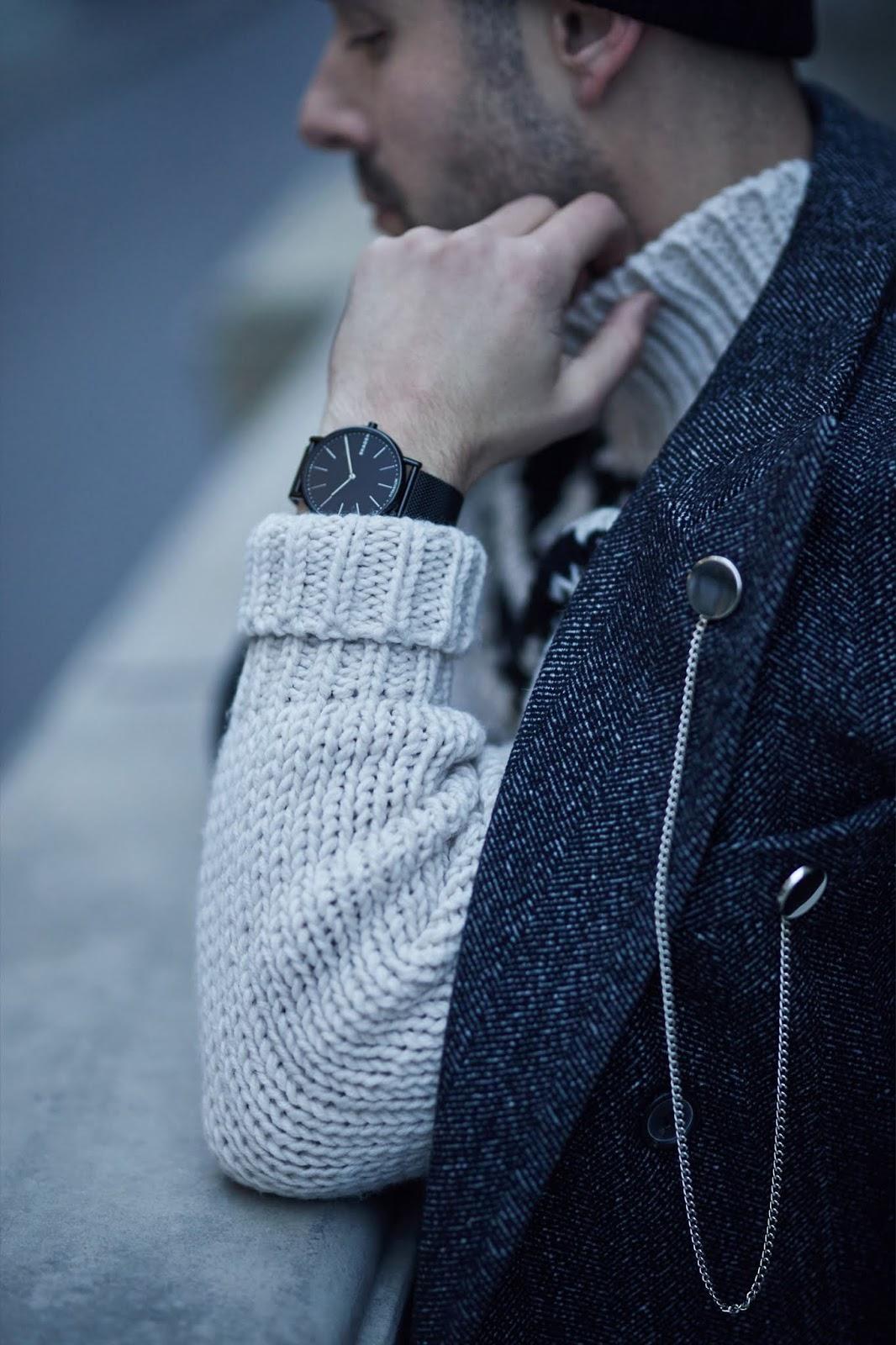 Skagen SKW6484 zegarek czarny klasyczny Signatur bransoleta