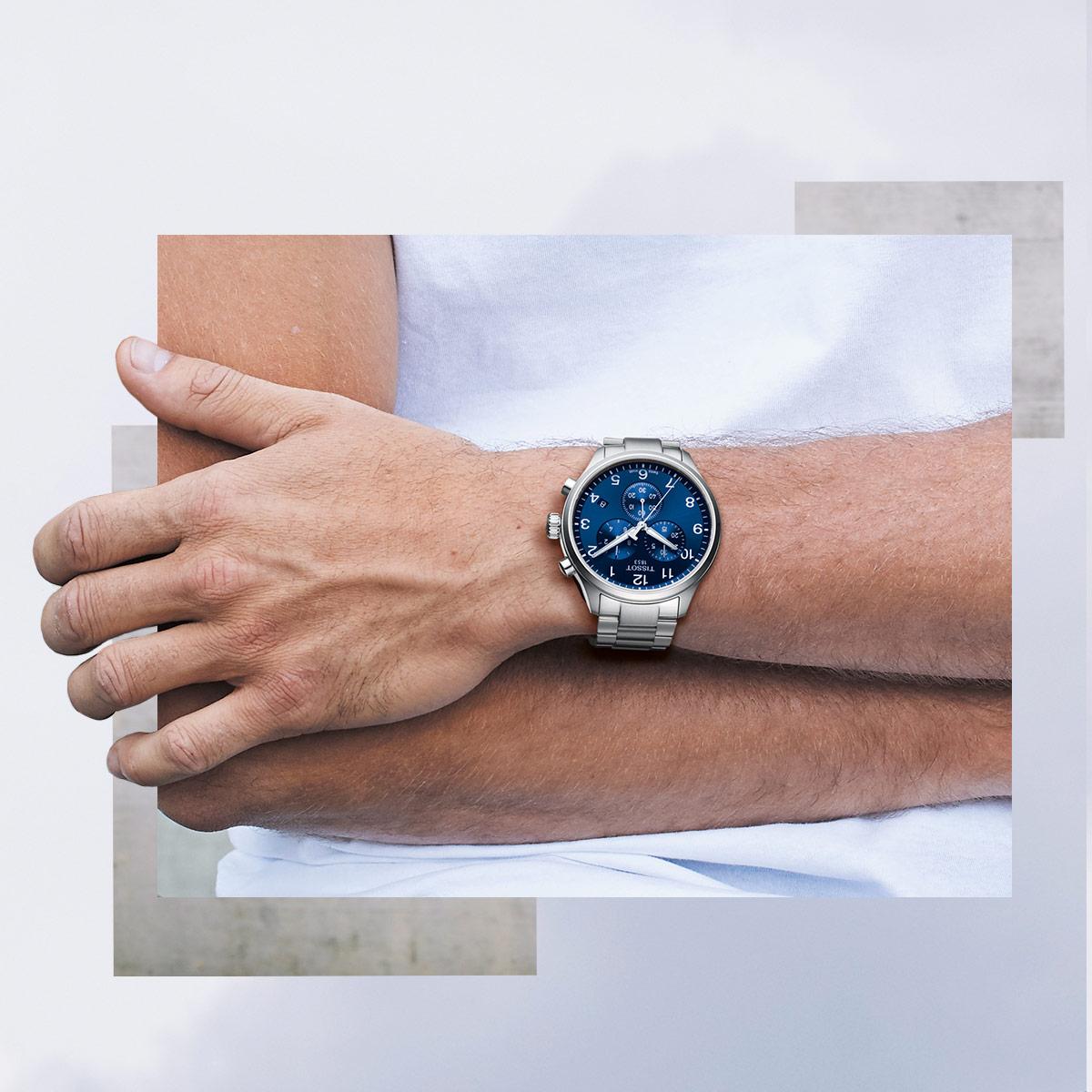 Tissot T116.617.11.047.01 Chrono XL CHRONO XL zegarek męski sportowy szafirowe
