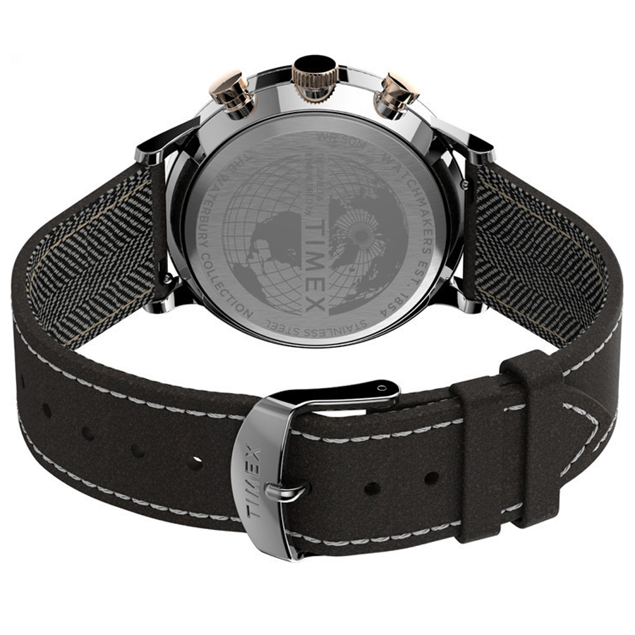 Timex TW2T71500 zegarek srebrny fashion/modowy Waterbury pasek