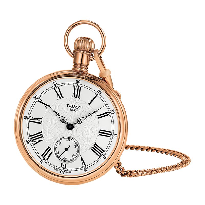 Tissot T861.405.99.033.01 męski zegarek Bridgeport Mechanical łańcuszek