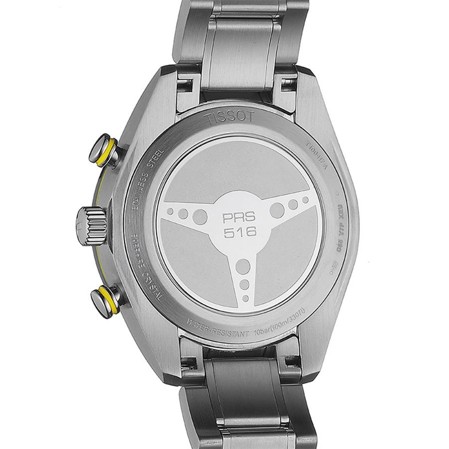Tissot T100.417.11.051.00 zegarek srebrny sportowy PRS 516 bransoleta