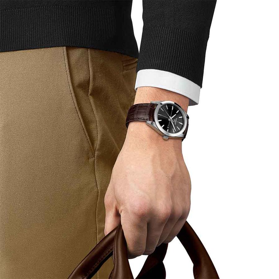 Tissot T127.410.16.051.01 męski zegarek Gentleman pasek