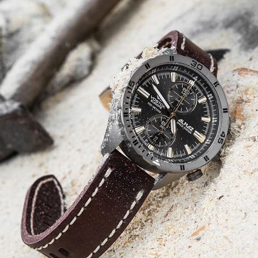 Vostok Europe 6S11-320H521 zegarek srebrny klasyczny Almaz pasek