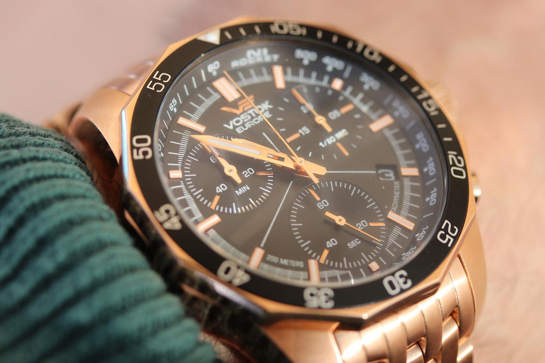 Vostok Europe 6S30-2259179B zegarek różowe złoto klasyczny N1 Rocket bransoleta