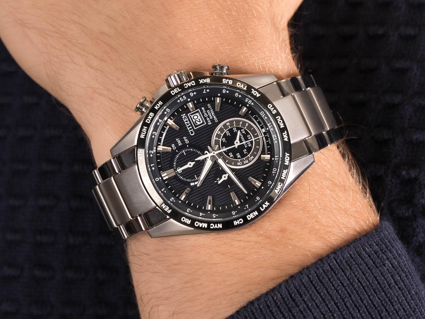Citizen AT8154-82L zegarek luksusowy Radio Controlled