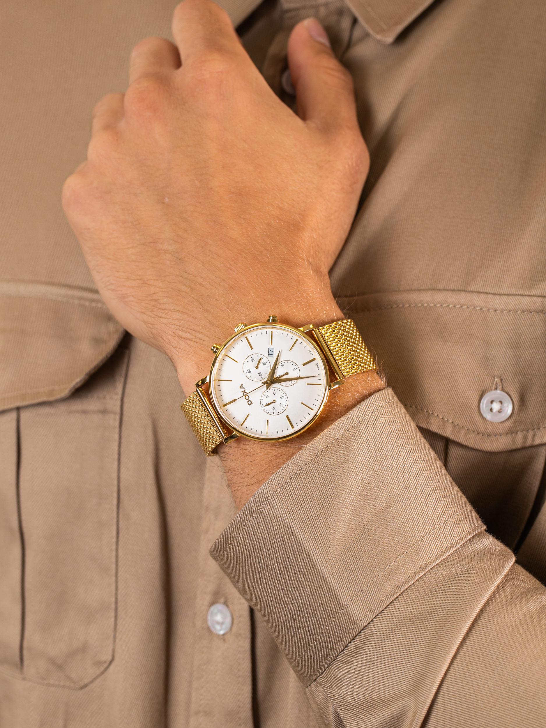 zegarek Doxa 172.30.011.211 męski z chronograf D-Light