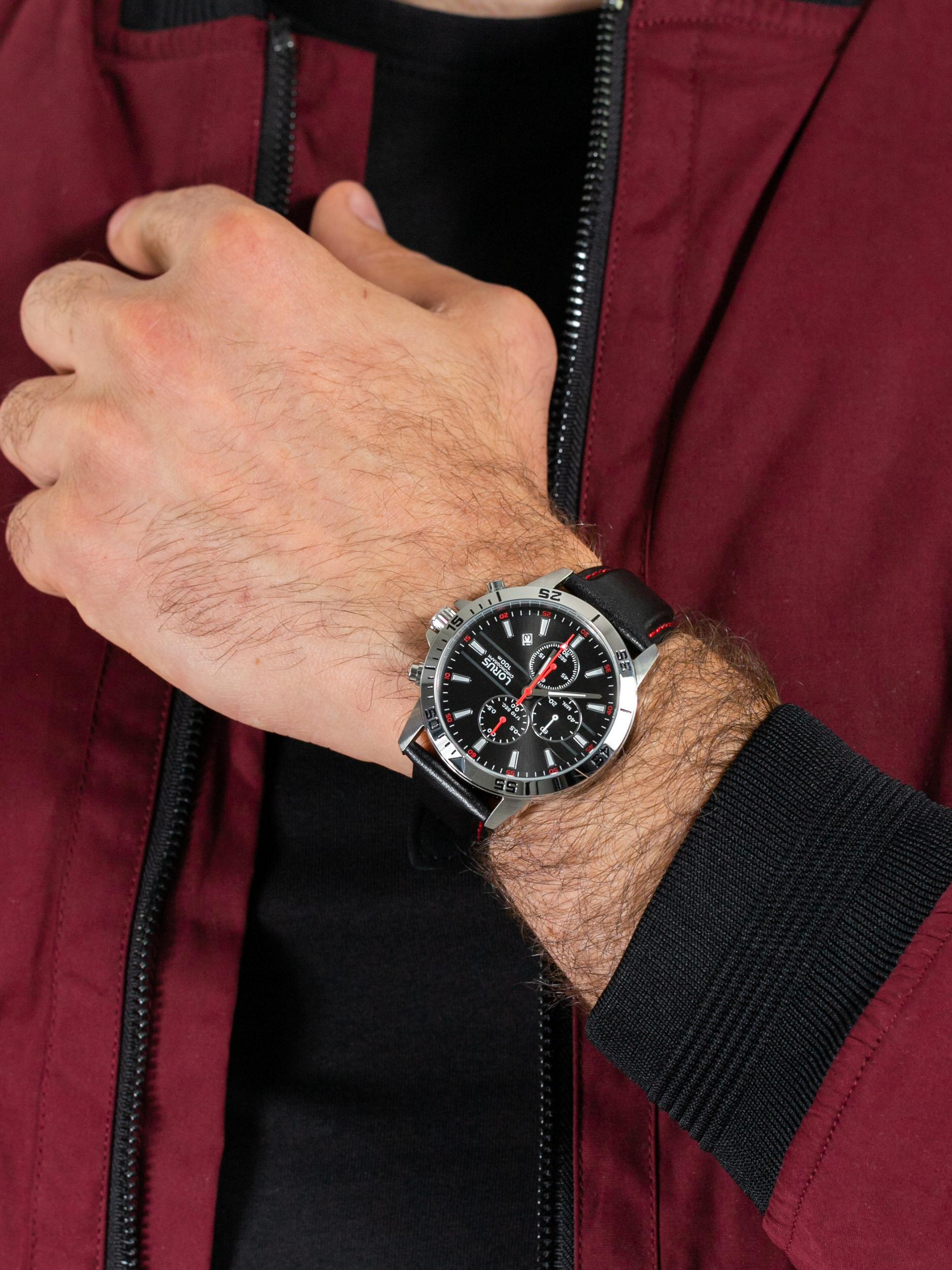 zegarek Lorus RM313FX9 męski z chronograf Klasyczne