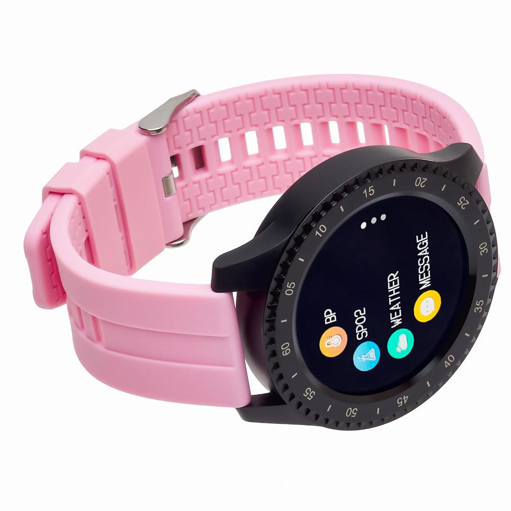 zegarek Garett 5903246289398 Smartwatch Garett Sport 12 RT Różowy damski z krokomierz Męskie